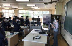 益城町立木山中学校で出張職業体験を行いました
